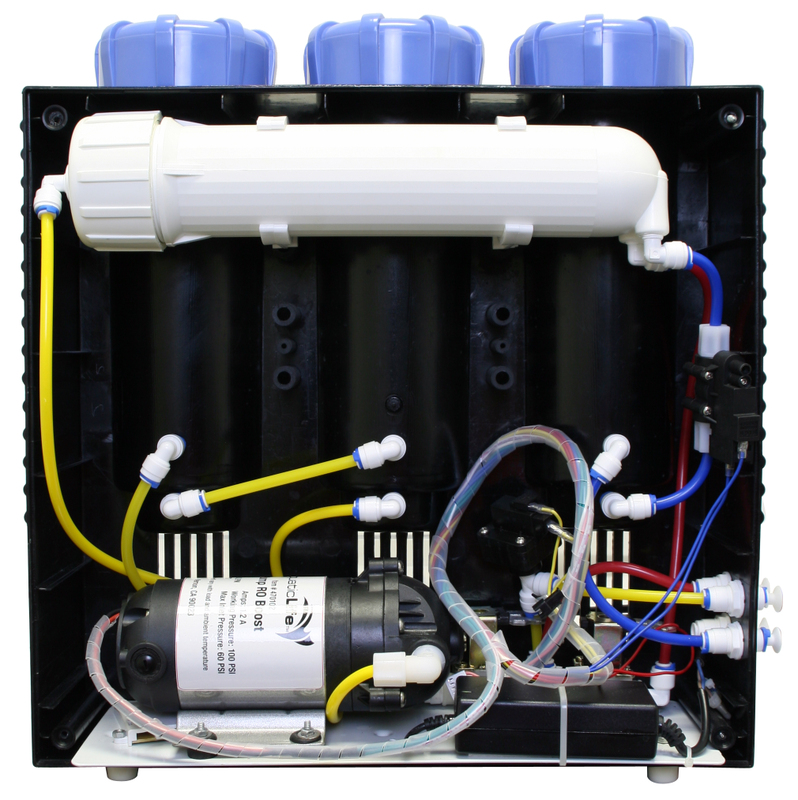 A contemporary full sized reverse osmosis unit