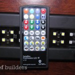 The Satellits + LED striplight with its remote