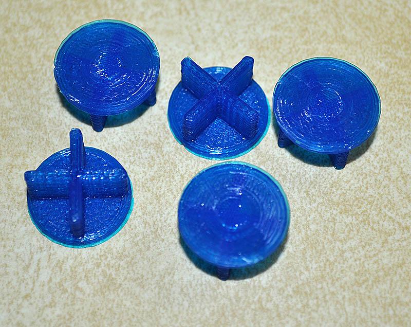 Graber's Gen 1 3D printed frag plugs