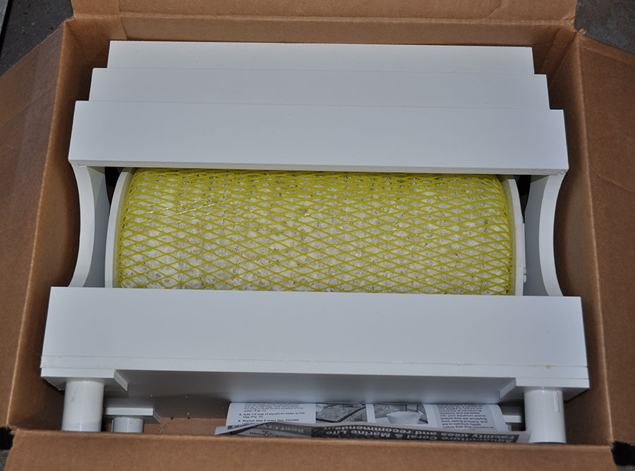 Unboxing the Sustainable Aquatics Wheely Complete biological filtration unit.