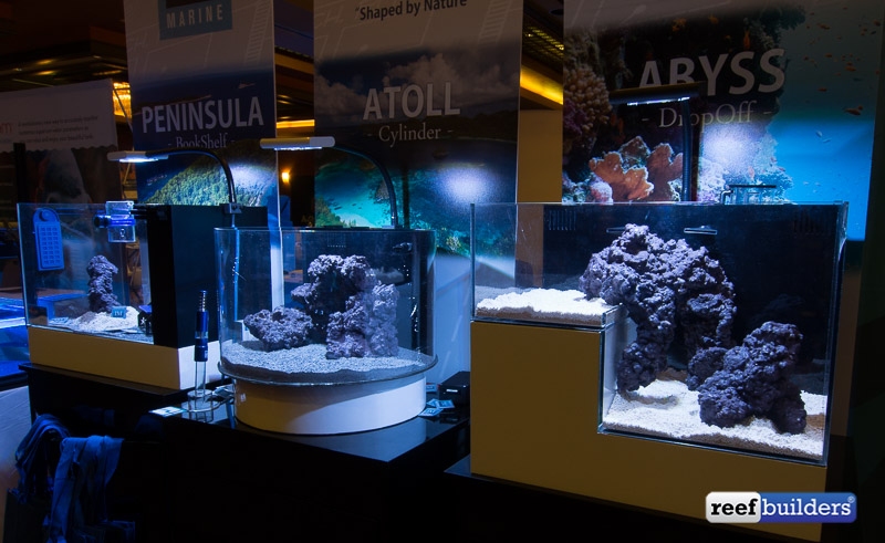Now a days tanks come in all different shapes. If you want to keep a nano aquarium like these brush up on water chemistry basics and get ready for frequent water changes.