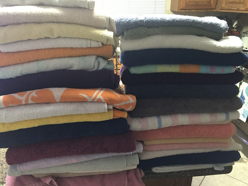 A collection every hobbyist should have: old towels