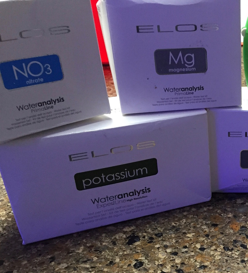 Just some of the Elos test kits that are available with some new ones on the way