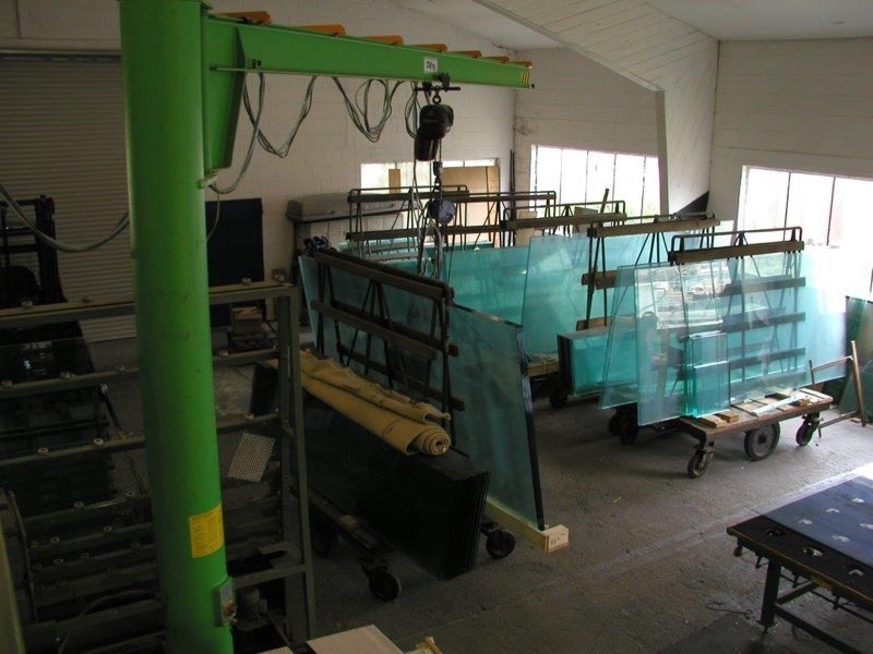 The low iron glass sheets being prepared to be used in the production of an Elos tank