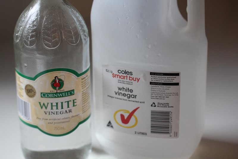 Vinegar works wonders when it comes to stubborn salt build up and other debris.