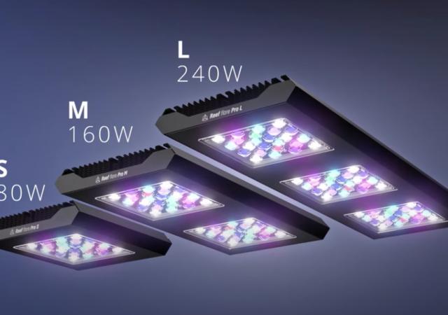 Reef Factory Reef Flare Pro LED light range