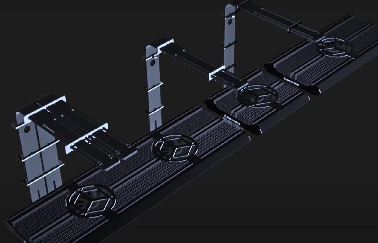 Reef Factory Reef Flare Pro tank mount render