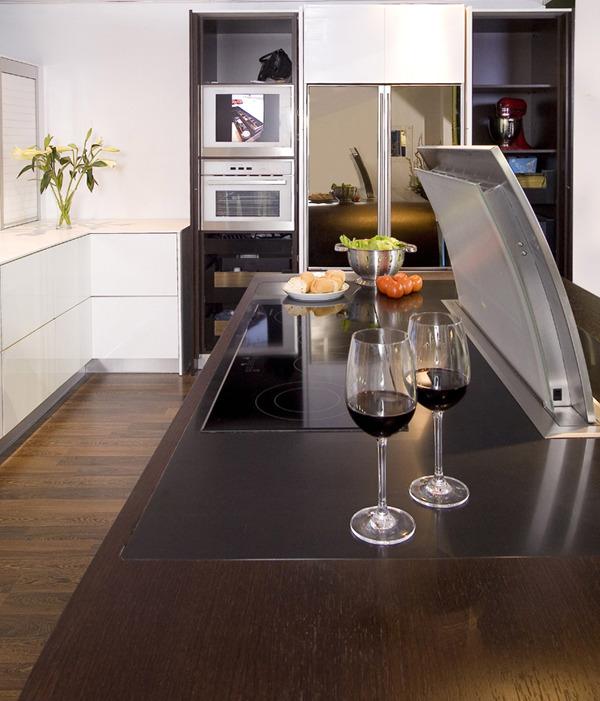 Aquarium A Key Focal Point In This Modern Kitchen Design