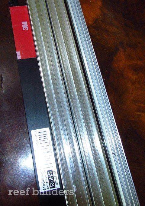 red white blue led striplight