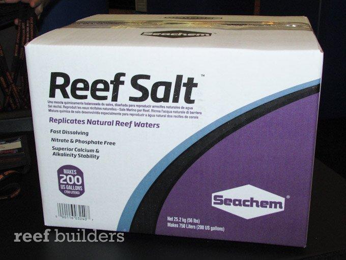 seachem reef salt box