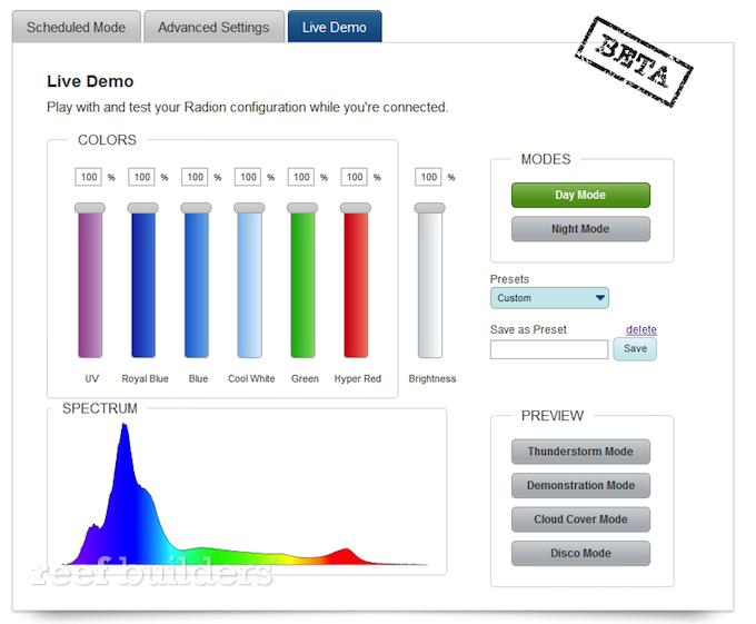 radion pro led color spectrum